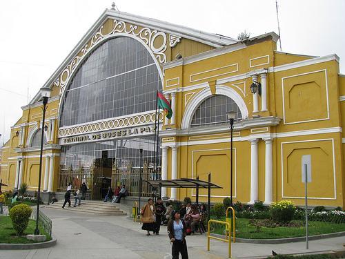 Bus terminal in La Paz