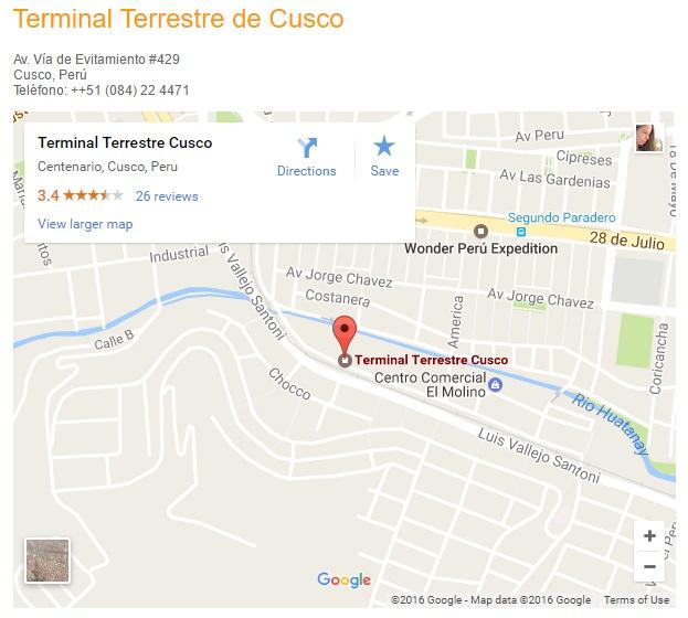 terminal terrestre de cusco