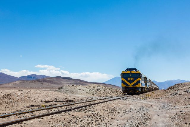 Train in Bolivia, Ollagüe-Uyuni, Bolivia