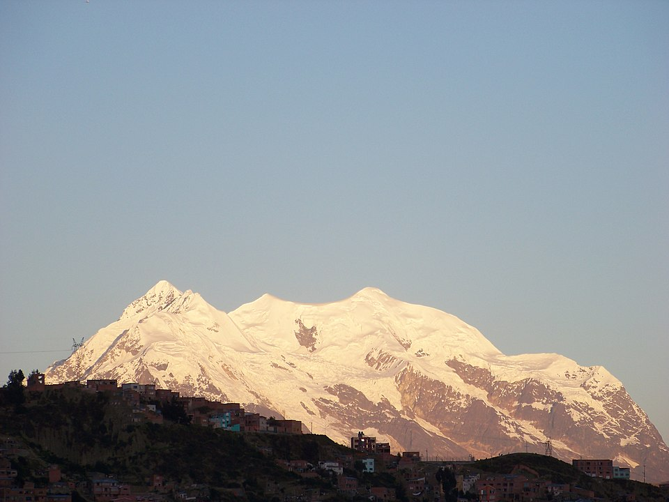 View of Illimani from Mirador Killi Killi