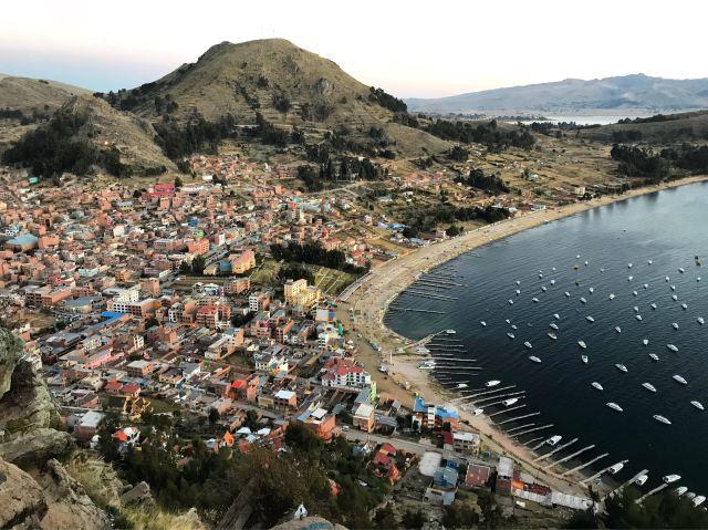 View of Copacabana, Bolivia