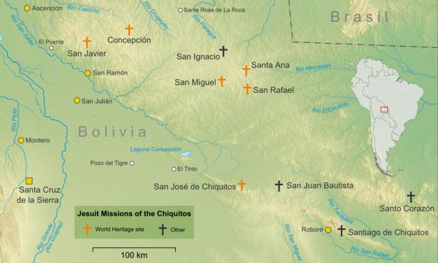 mapa circuito de chiquitos